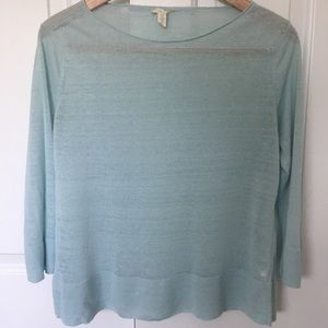 Eileen Fisher Organic Linen Scoop Neck Sweater